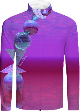 Balancing, Abstract Fuchsia and Violet Equilibrium Tracksuit Jacket