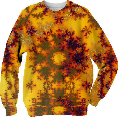Golden Sun Gate, Abstract Fractal Asian Illusion Sweatshirt