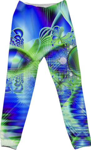 Irish Dream under Abstract Cobalt Blue Skies Cotton Pants