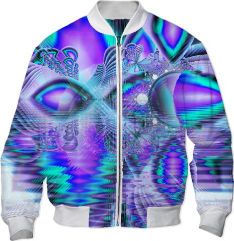 Peacock Crystal Palace of Dreams, Abstract Bomber Jacket