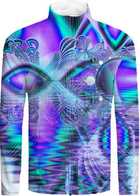 Peacock Crystal Palace of Dreams, Abstract Tracksuit Jacket