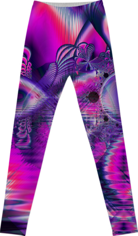 Rose Crystal Palace, Abstract Love Dream Leggings
