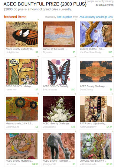 ACEO Bountyful Prize {2000 Plus}  Treasury