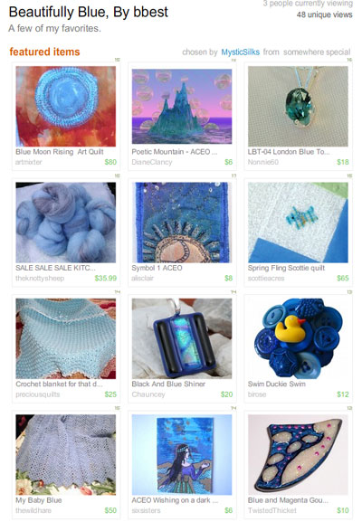 Beautifully Blue Treasury