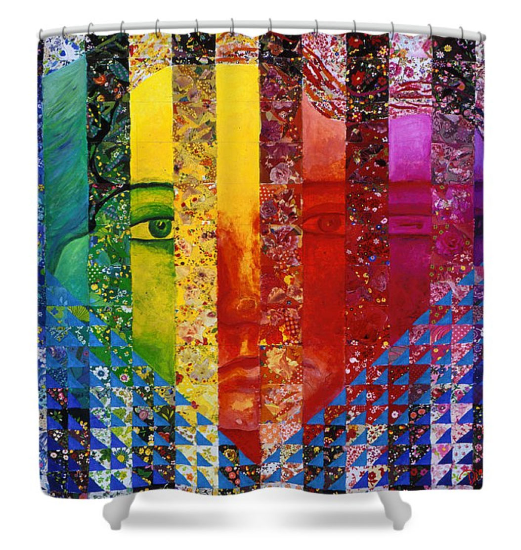 Conundrum I, Rainbow Woman Double Face Shower Curtain