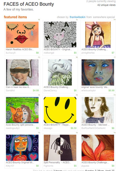 Faces of ACEO Bounty Treasury