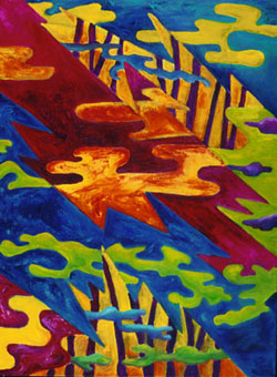 Fire and Air - the original painting p align=