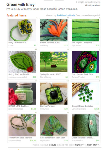 Green with Envy Treasury