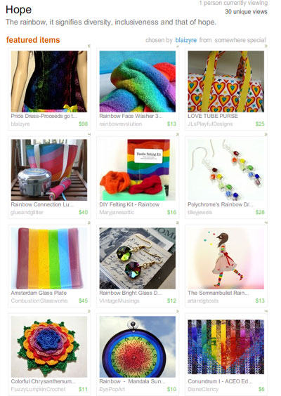 Hope, the Rainbow ... Treasury