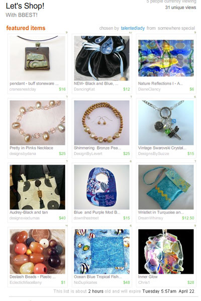 Let's Shop! Treasury