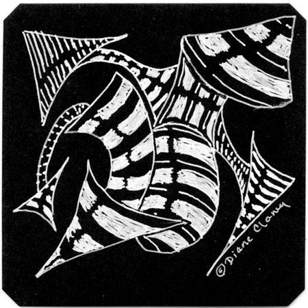 Monotangle Striping