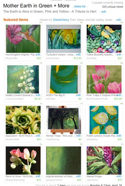 Mother Earth in Green + More Treasury