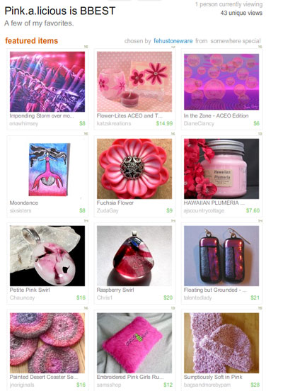 Pink.a.licious is BBEST Treasury