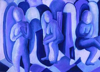Reflections in Blue II