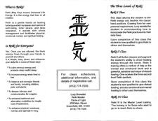 Reiki Flyer - back