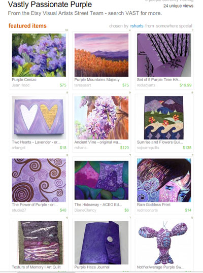 Vastly Purple Passion Treasury