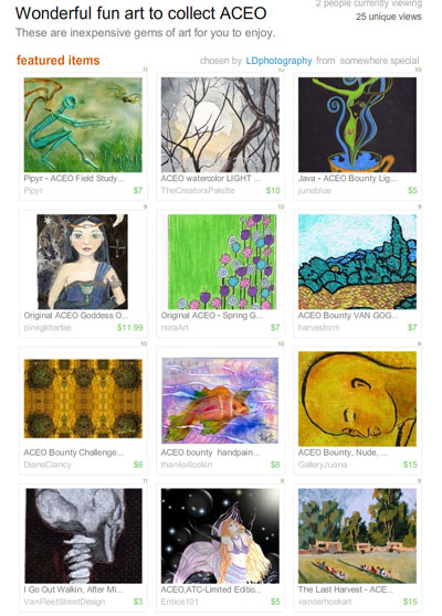 Wonderful Fun Art to Collect ACEOs Treasury