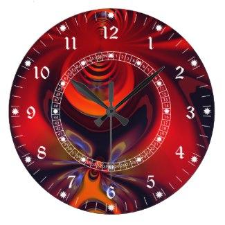 Amber Goddess Clock