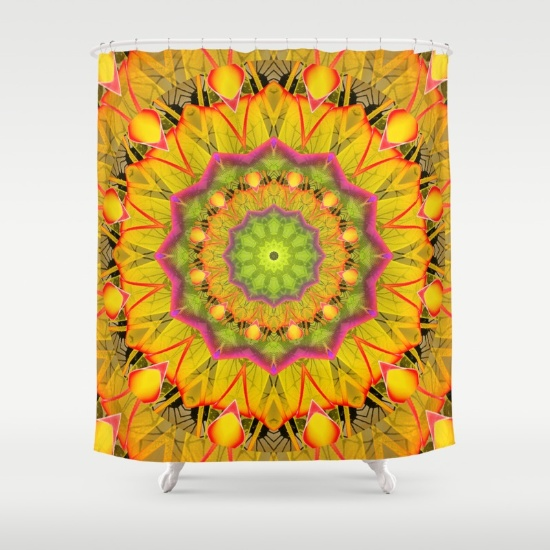 Beach Grass Golden Red Foliage Abstract Fall Days Shower Curtain