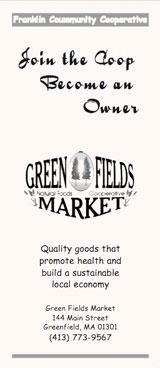 Green Fields Market Flyer - cover