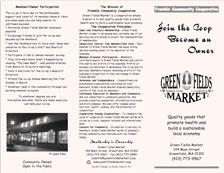 Green Fields Market Flyer - front