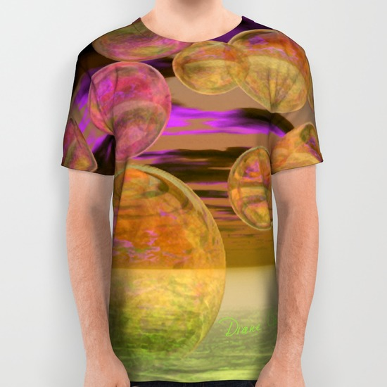 Peace in the Storm - Abstract Bronze Tranquility All Over Print Shirt