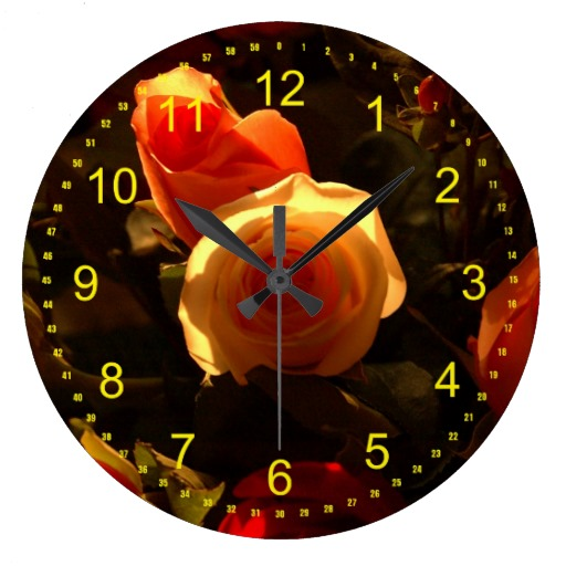 The Roses I Wallclock